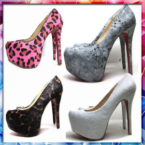 2015 Fashion Platform High Heel Shoes, Genuine Leather Shoes for Lady (H141)