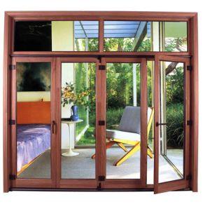 Aluminum-Clab Wooden Window