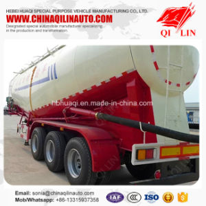 Qilin 3 Axles 45cbm Capacity Bulk Cement Tanker Truck Semi Trailer pictures & photos