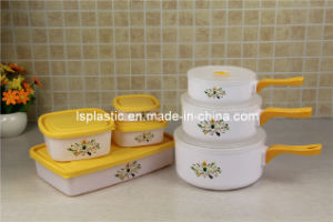 7 PCS Plastic Food Containers with Saucepans (LS-2007)