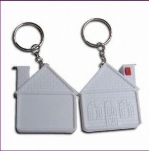 Promotional House Shaped Tape Measure With Key Ring (RF6146)