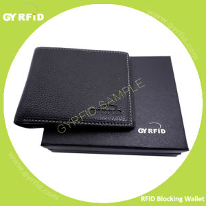 Anti Magnetic Anti Scanning Anti Theft RFID Blocking Leather Wallet RFID Information Protection Wallet Card Holder pictures & photos