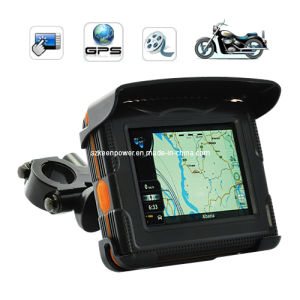Weatherproof 3.5 Inch LCD Peaklife Motorcycle GPS Navigator All Terrain Edition with Bluetooth (GG6025) pictures & photos