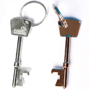 Metal Bottle Opener Keychain with Promotional Logo pictures & photos
