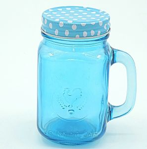 Blue Rooster Handle Strew Mason Jar Glass Bottle Drinkware pictures & photos