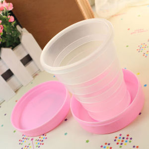 2015 Hot Sell Present Plastic Drink Mug Travel Collapsible Cup