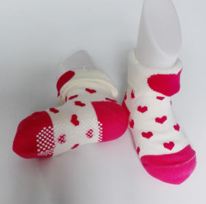 100% Cotton Kid Socks with Sole Pattern and Anti-Slip pictures & photos