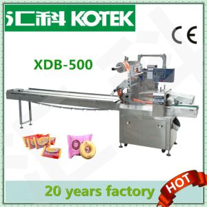 Horizontal Flow Cupcake Wrap Equipment Pillow Pack Wrapper Automatic Foodstuff Packing Machine pictures & photos