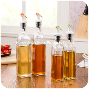 Flip Top Clip Seal Glass Clear Soy Sauce Vinegar Bottle pictures & photos