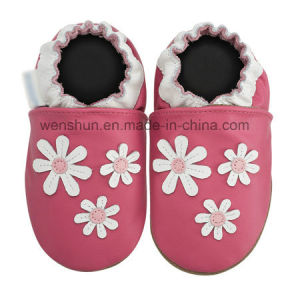 Flowers Baby Leather Shoes Ty7007 pictures & photos