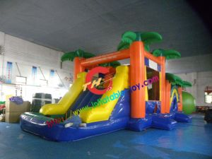 Hot Sale Jungle Inflatable Bouncer with Slide pictures & photos