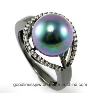 Wholesale Pearl Silver 925 Ring for Fashion R10181 pictures & photos