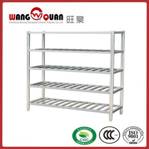 Round Tube 5 Tier Stainless Steel Slatted Shelves (short type) pictures & photos
