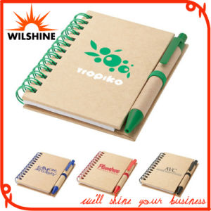 Eco Friendly Paper Mini Notebook with Recycled Paper Pen (PNB012) pictures & photos