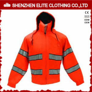 Waterproof Windproof Orange Safety Reflective Winter Jacket (ELTSJI-19) pictures & photos