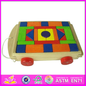 2014 Wooden Block Car, Car Toy Funny Toy Wooden Block Toy, Wooden Toy Block Cart (W13C016) pictures & photos