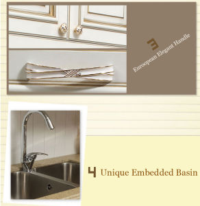 Modern Solid Wood Kitchen Furniture Design (zq-012) pictures & photos