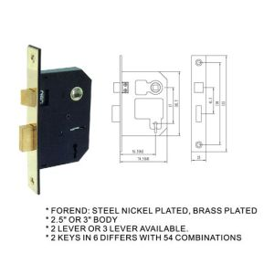 British&Swedish Door Handle Lock Body Mortise Lock pictures & photos