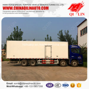 8X4 Chassis Refrigerator Van Truck for Meat and Fish Loading pictures & photos