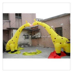 Creative Design Giraffe Shaped Inflatable Arch Door