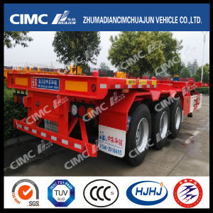 Cimc Huajun 40FT 3axle Skeleton/Skeletal Container Semi Trailer pictures & photos