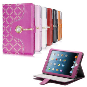 2015 New Design Colorful Clear Stand Leather Cover Case for iPad Air2