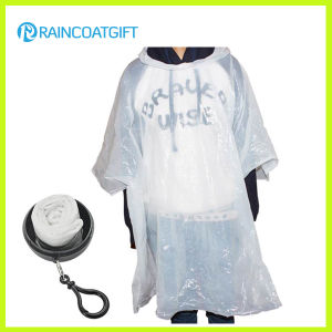 White Disposable PE Rain Poncho Ball pictures & photos