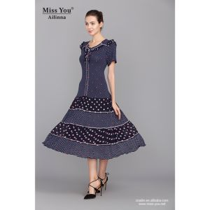 Miss You Ailinna 100274 Beautiful Cotton Dress Distributor Print Cotton Dress pictures & photos