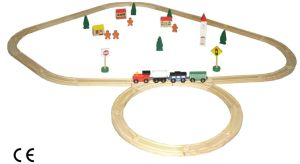 Wooden Toy Train Rail (19PCS) with En71 Certificate pictures & photos