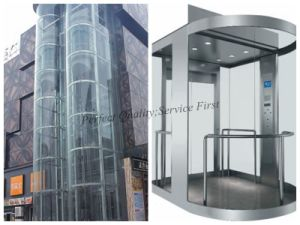 Half-Round Type Sightseeing Elevator with Vvvf pictures & photos