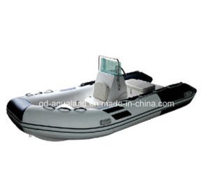 Aqualand 16feet 4.7mfiberglass Fishing//Rib Boat/Rigid Inflatable Boat (RIB470B) pictures & photos