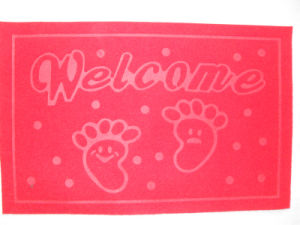 Waterproof Anti-Slip Embossed Door Mat with PVC Back pictures & photos