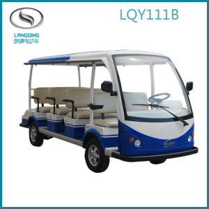 CE Electric Sightseeing Car Shuttle Bus Tourist Coach 11 Seats with Gearbox (LQY111BN)