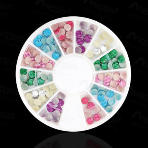 Nail Art Candy Colours Studs Round Studs with Grain Nail Decoration pictures & photos