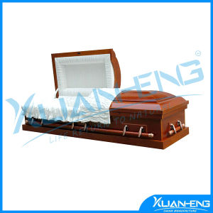 Low End Cheap Wood Coffin Engraved for Spanish Market pictures & photos