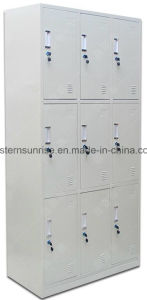 9 Door Metal Locker/Steel Locker/Storage Locker/Wardrobe pictures & photos
