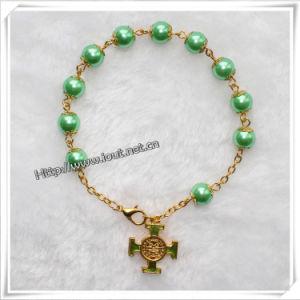 Golden Bracelet Bracelet Glass Beads Rosary Bracelet / Rosary Necklace (IO-CB073) pictures & photos