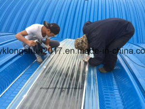 914-610 240 No-Girder Self Supported Arch Curving Roof Roll Forming Machine pictures & photos