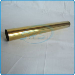 Stainless Steel Welded Round Pipes (Tubes) with Titanium-Plated for Car