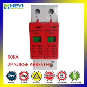 60ka 420V 2p 60A SPD Low Voltage Surge Protective Device pictures & photos