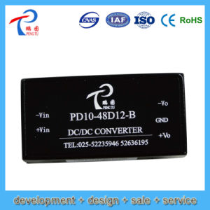 10W Pd10-48d15-B ATX Switching Power Supply with 48V Input Voltage, 15V Output Voltage, Dual Output