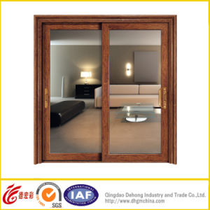 White Profile Aluminum Door with Double Glass pictures & photos