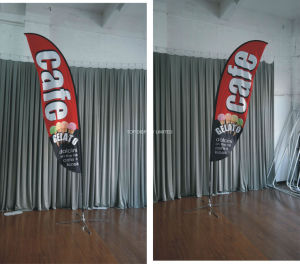 Fabric Customed Promotional National Advertising Beach Advertising Flag pictures & photos