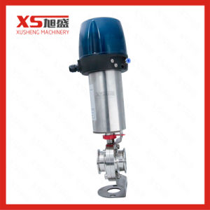 Stainless Steel Sanitation Air Actuated Butterfly Valves with Control Head pictures & photos