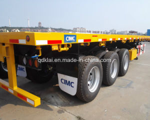 CIMC Brand New 40ft Flat Bed 3 Axles Container Semitrailer pictures & photos