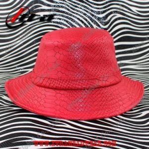 Fashion Snakeskin Leather Unisex Hat pictures & photos