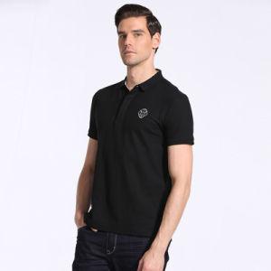 Wholesale Black Polo T Shirt for Men pictures & photos