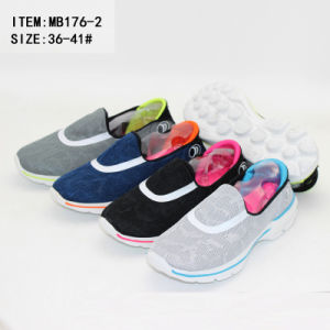 Newest Cheap Women Cold Cement Sports Shoes Slip on Leisure Shoes (MB176-2) pictures & photos