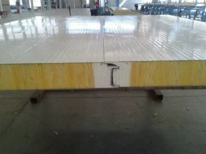 Roof Wall Polyurethane Sealed Side Glass Wool Sandwich Panel pictures & photos
