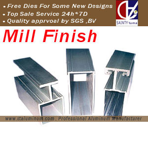 Aluminum Door Profile From 25-Years Factory with Stamping, Drilling, Cutting.